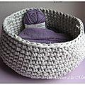 Corbeille tricot... au crochet, les explications ! - Un atelier à la montagne