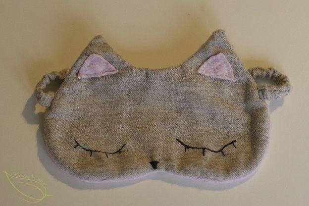 DIY COUTURE : un masque de nuit chat