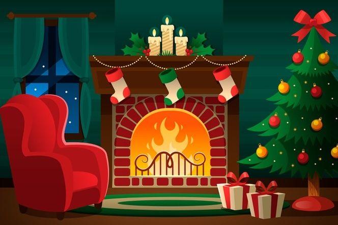 Concepto De Escena De Chimenea De Navidad En Diseno Plano Vector Gratis Manualidades De Navidad Para Ninos Acuarela De Navidad Manualidades