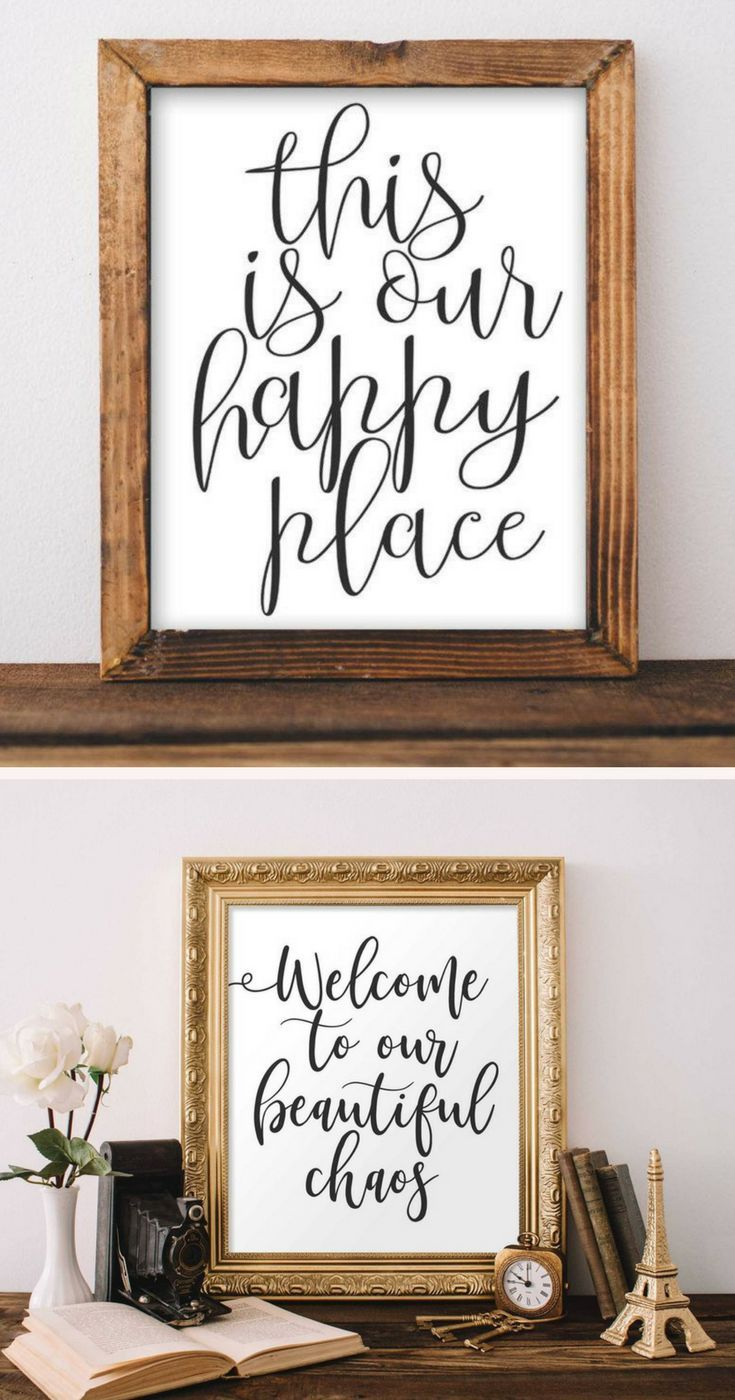 Love These Simple Signs That I Can Print At Home They Describe The Parts Of Family Life That I Trea Printable Wall Art Living Room Farmhouse Decor Rustic Kids #rustic #signs #for #living #room