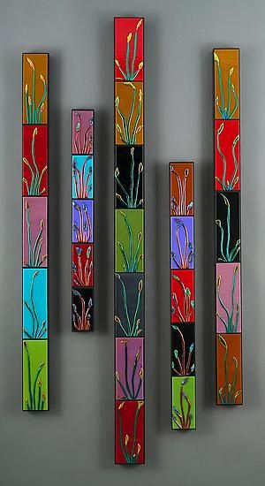 glass wall art. Could be done in tiles too.