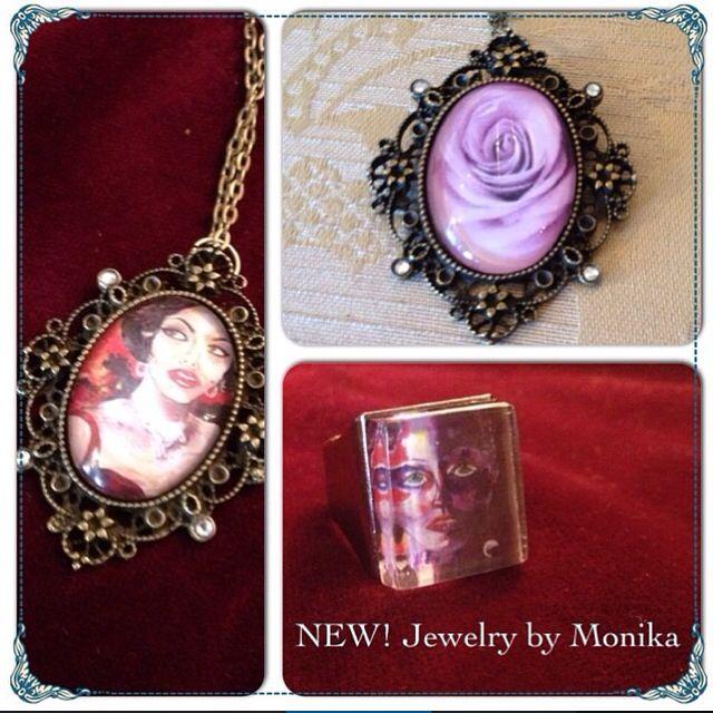 New Jewelry by Monika! Purchase www.mabartstudio.com/store
