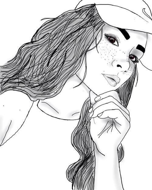 Line Drawing Tumblr Girl : Best outlines images on pinterest grunge hair