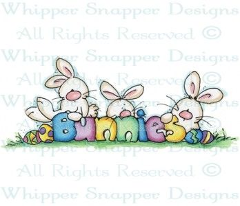 Curious Bunnies - Easter - Holidays - Rubber Stamps - Shop