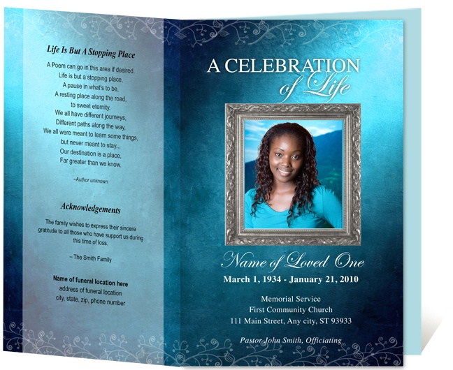 Best Obituary Programs Images On   Funeral Program