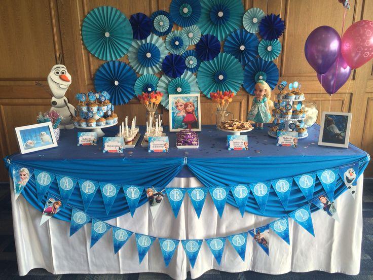 Fiesta de Frozen - mesa principal by La Lunchera