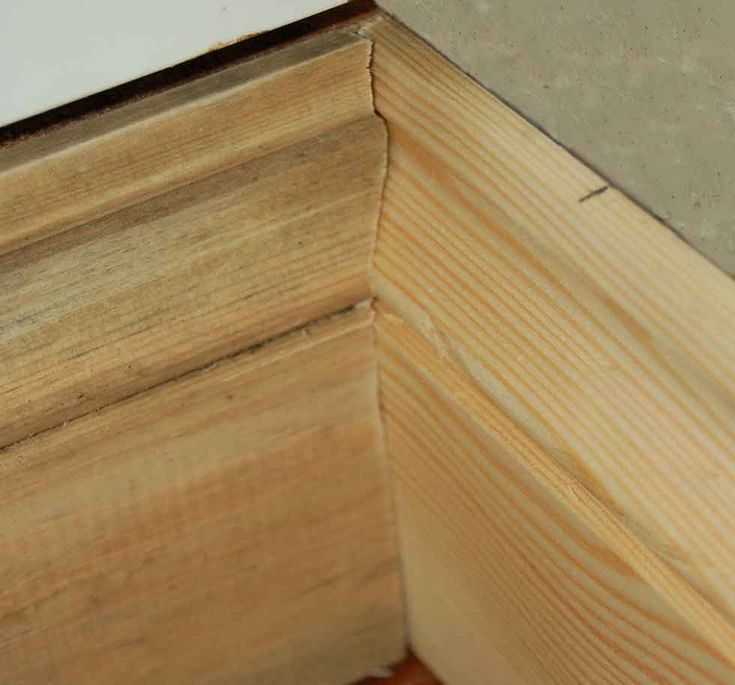 fitting skirting board in an internal corner with scribed ends