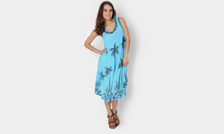 #beach #beachstyle #beachwear #summer #azul #palm #vestido #colors #dress #playa #fashion #moda #mexicana https://www.facebook.com/peccatumbysolperea