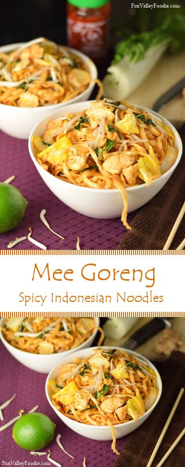 Mee Goreng, Spicy Indonesian Noodles
