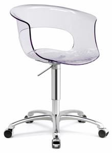 Chair Revolving Steel Base With Wheels Price In Kerala Frame Adjustable Height Gas Piston Central Chrome Support On 5 Polished Aluminium Die Casti