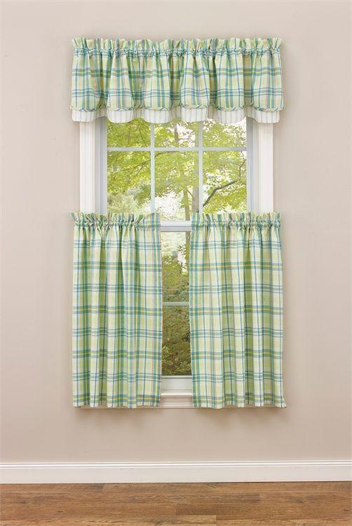 "Garden Gate Lined Layered Curtain Valance 72"" x 16"""