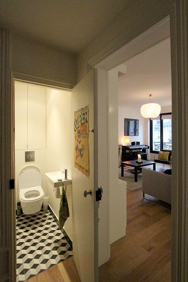 petitsappartements/mamietimbaud Lave main dans petites toilettes