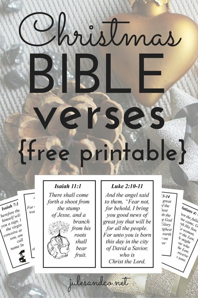 Christmas Bible Verses (Free Printable!) | I love these inspirational verses to help get in the Christmas spirit! | http://julesandco.net