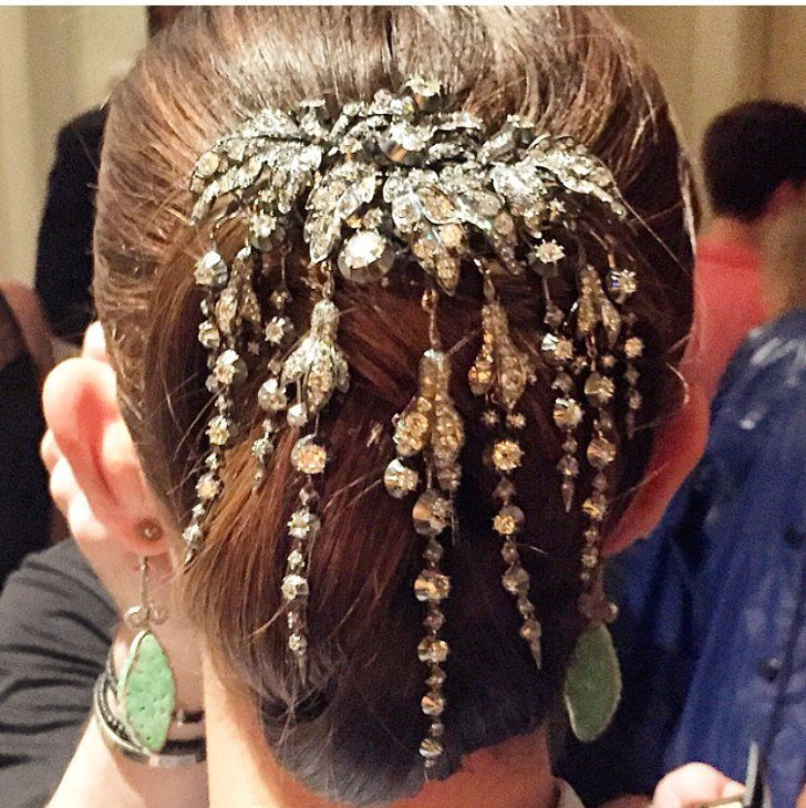 Pin for Later: Zoom In on Every Gorgeous Hair Accessory From the Met Gala Lily Aldridge This vintage pin was the hidden wow factor in Lily's Met Gala updo.