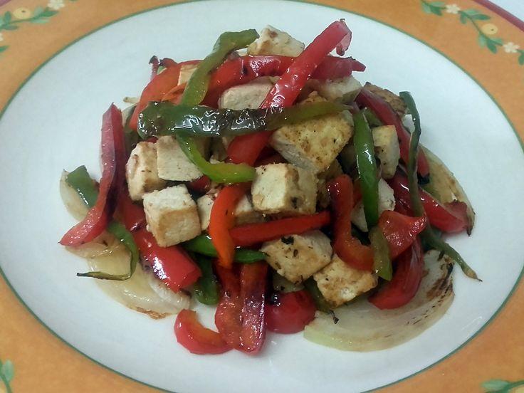 Recetas sanas, recetas con tofu, Receta Vegetariana, Reto recetas sanas, verduras a la plancha, tofu marinado, recetas fáciles, recetas saludables, recetas