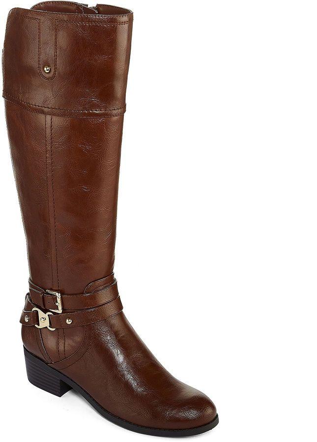 8ae503c822ab Liz Claiborne Tory Womens Riding Boot Wide Calf