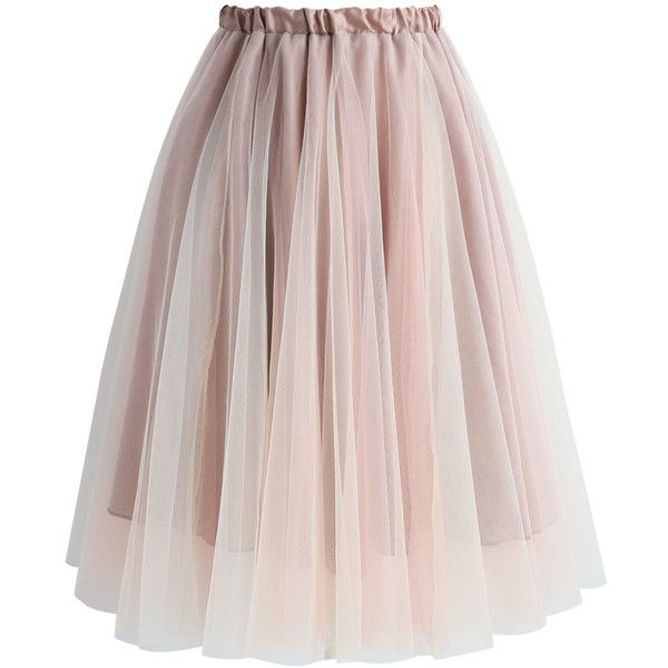 Chicwish Amore Mesh Tulle Skirt in Taupe ($40) ❤ liked on Polyvore featuring skirts, grey, grey skirt, taupe skirt, gray tulle skirt, chicwish skirt and tulle skirts