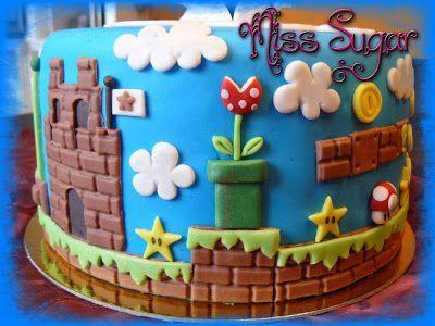 mario bros's cake