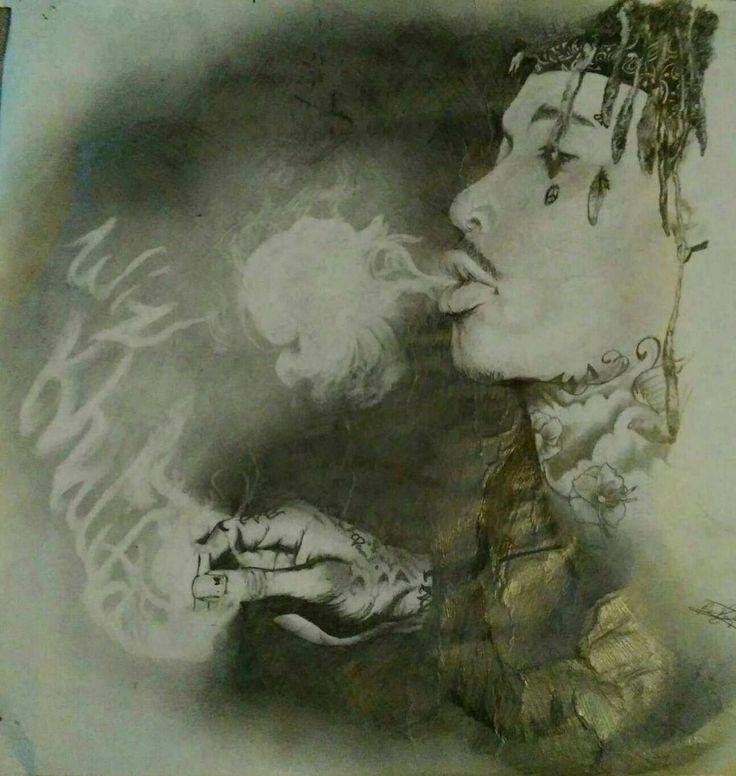 """Wiz Kahlifa"" 13x15inch. GRAPHITE PENCIL, DRAWING/ILLUSTRATION Wiz Khalifa drawn in graphite. Published via ArtLoupe. #BLACK_AND_WHITE #FIGURATIVE #MODERN #PORTRAIT #REALISM #REPRESENTATIONAL #SURREAL #URBAN"