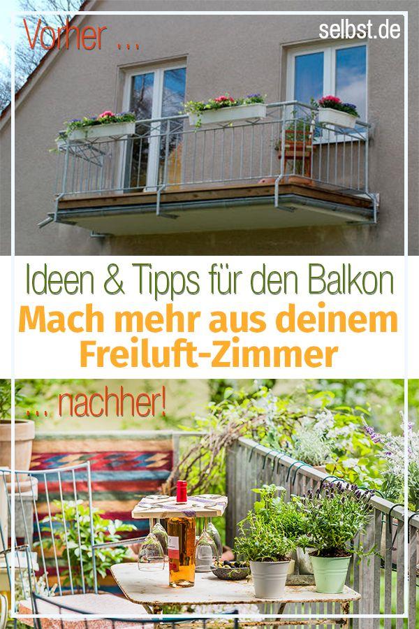 Balkon Garten  Balkon Pinterest - garten selbst gestalten tipps