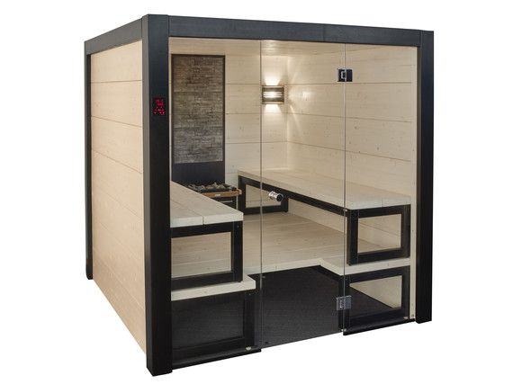 Harvia Solide sisäauna vastaa idealtaan ja designiltaan palkittua Harvia Solide ulkosaunaa. Kotiin sisälle asennettavassa designsaunassa toistuu sama vaalean kuusipuun ja mustien yksityiskohtien sävykäs yhdistelmä kuin ulkosauna-mallissa. Voit valita saunaasi lauderatkaisun, joka suunnitellaan materiaaleja myöden toiveesi mukaan. Lisäksi Solide-saunapakettiin kuuluu seinä- ja kattopalkit, ikkunat, lasiovet, Harvia Virta –sähökiuas sekä valaistus. Helpon asennuksen jälkeen voitkin alkaa…