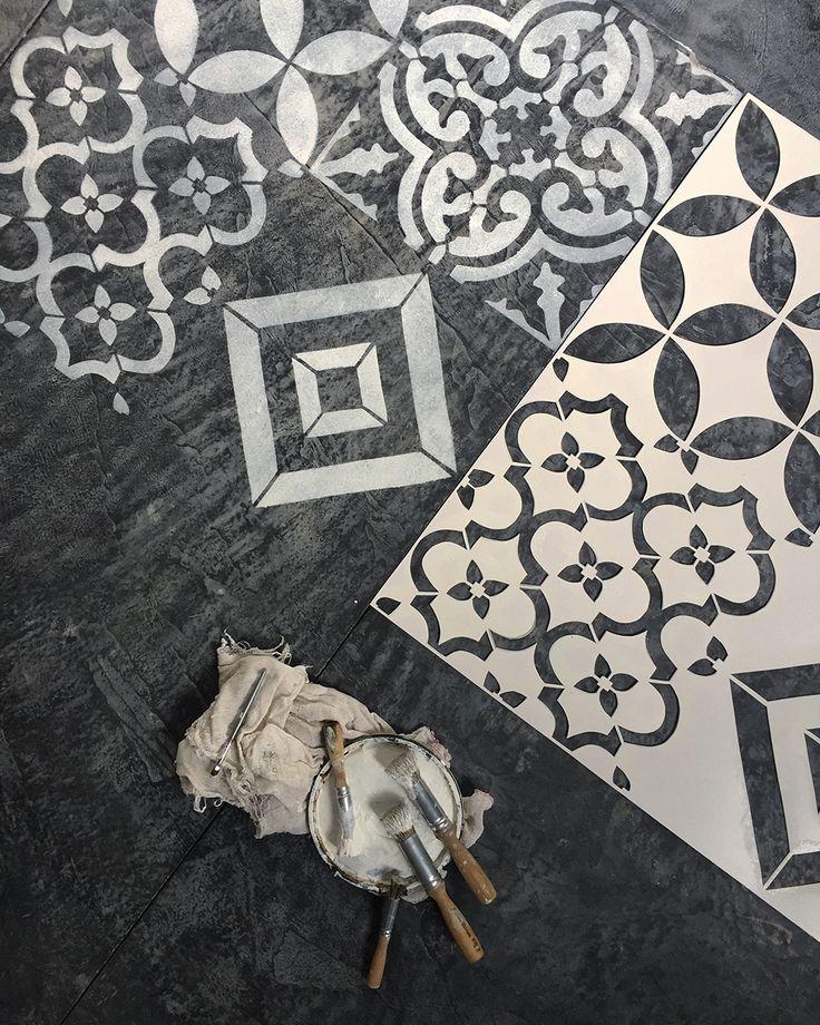 25 melhores ideias sobre stencil parede no pinterest - Pintura para pintar piso de cemento ...