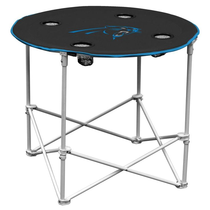 This portable table is made of 600 denier polyester and measures 30 in diameter and 24 tall. Height matches our canvas or deluxe chairs for easy dining. Folds up for easy storage and transport. Featur