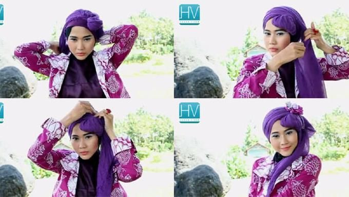 Foto Tutorial Hijab Simple Segi Empat Kursus Hijab Tutorial