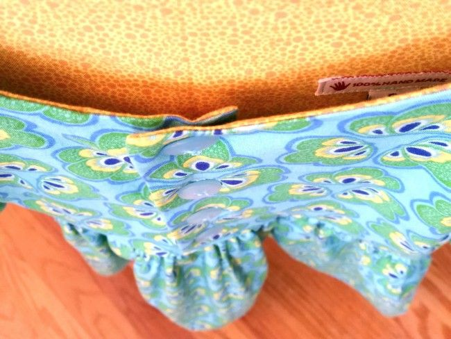 Whipstitch: Flip Flop Dress Detail in Spring Bloom: Fabric by Bella Caronia for Windham Fabrics