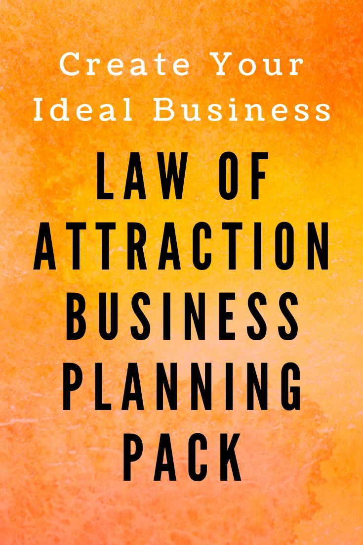 Law Of Attraction Business Planning Pack Law Of Attraction Business Planning Success Business