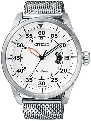Montre Citizen Homme AW1360-55A - Quartz - Analogique - Cadran et Bracelet en Acier inoxydable Argent - Date - Montre Japonaise