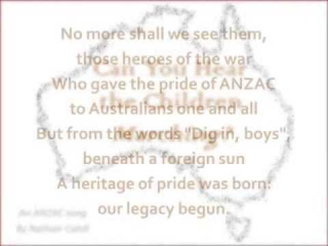 ▶ Can You Hear The Children Marching Lyric Video Vocal - YouTube - a new ANZAC song