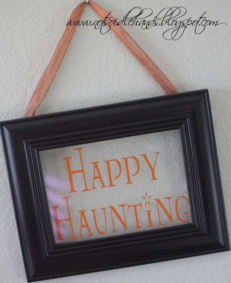 Not So Idle Hands, Crafts from the Crafty - use your vinyl and old frames to make cute holiday decorations.