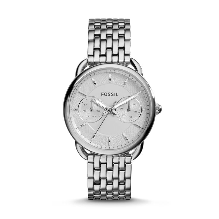 7fae54e4ea2d Polished silver tone stainless steel and a Roman numerals face make Tailor  this season s most coveted