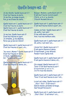 Quelle heure est-il? / What Time Is It?: French Song Lyrics and Sound Clip