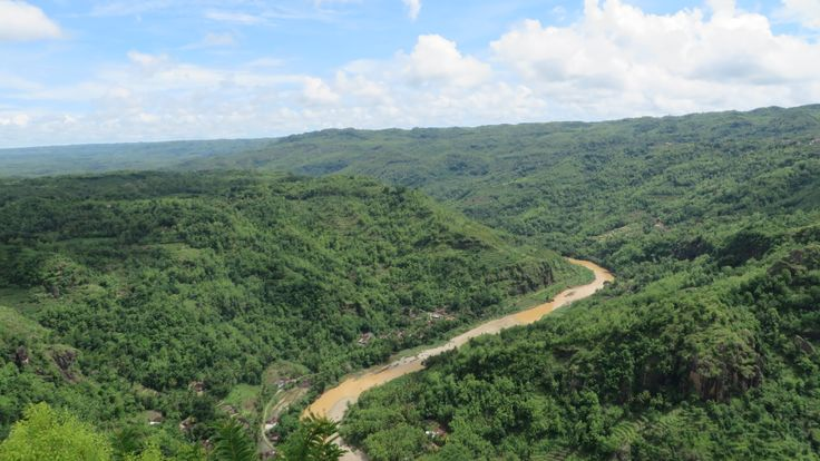 when the blue and green meet :) a view from Mangunan