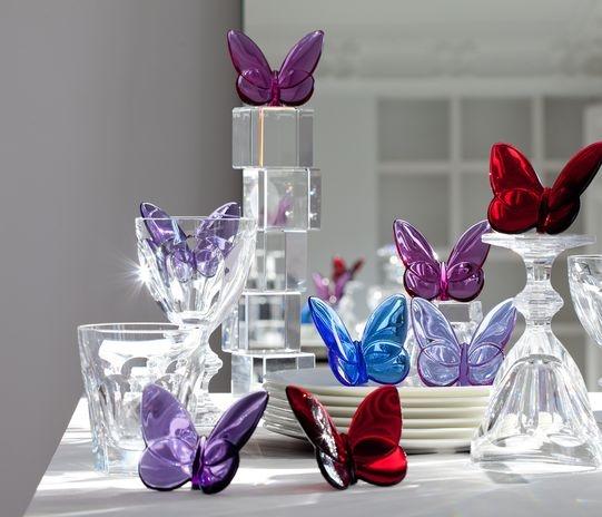 Papillon lucky butterfly crystal glass pinterest for Salon baccarat