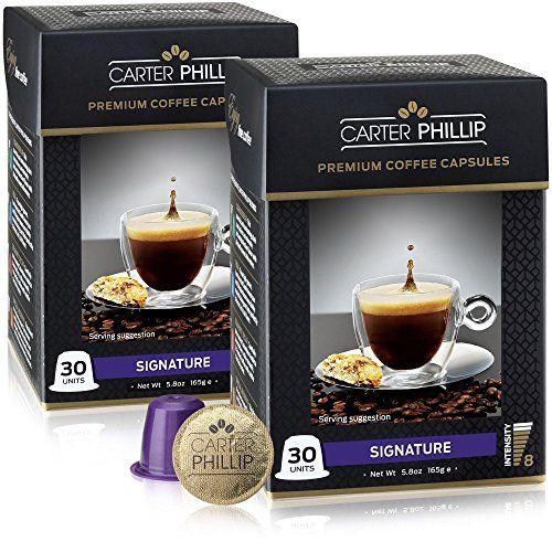 Nespresso Compatible Capsules - 60 Count - Premium Dark Roast Espresso by Carter Phillip Fine Coffee - Fit Nespresso Original Line Machines - Delicious Alternative to Nespresso Pods