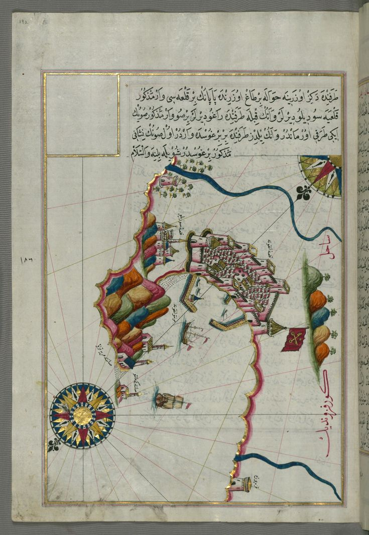 Illuminated manuscript Map of the Fortress of