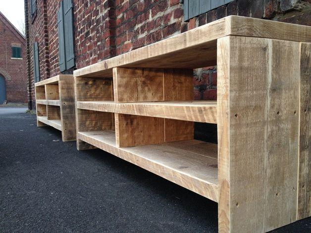 bauholz sideboard lowboardtv mbel - Tv Wand