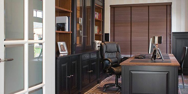 Stijlvol kantoor, op maat ontworpen en gerealiseerd door Tinello