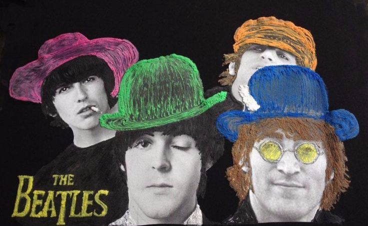 THE BEATLES T-shirt painted 3d Art to Wear