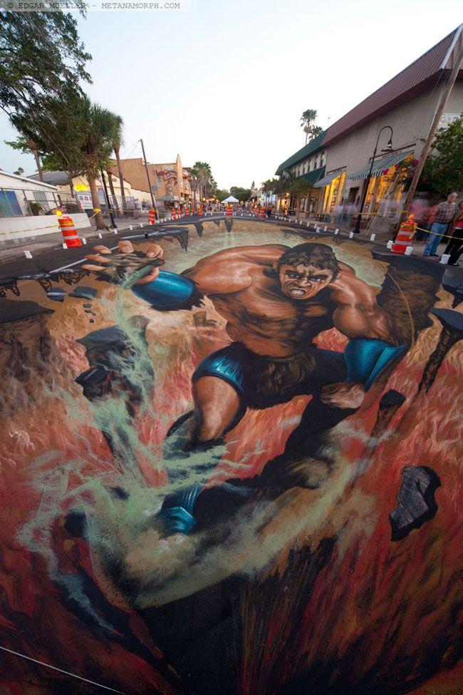 Exclusive 3D Street Art by Edgar Mueller