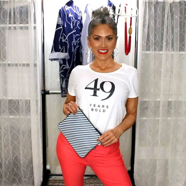 Beauty101byLisa: CHICO'S SPRING LOOKBOOK 2018   How Bold Are You? Over 40, gray hair, spring fashion