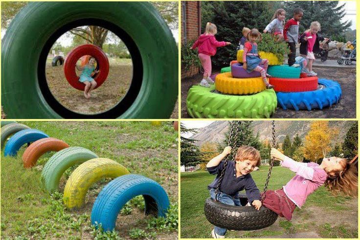 20 Ideas para hacer manualidades recicladas con neumáticos