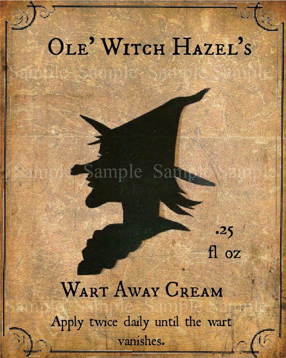 Primitive Witch  Wart Cream Remover Feedsack Logo by Starrmtnprims