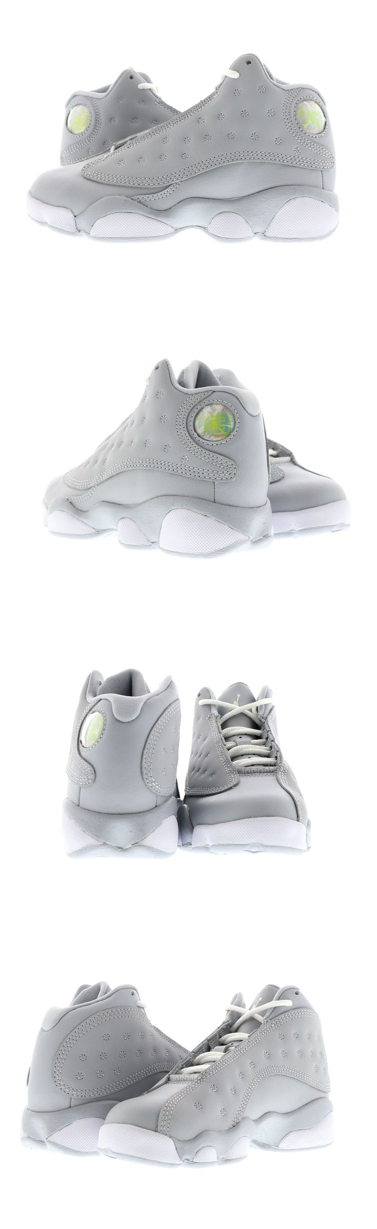 Boys Shoes 57929: Kids (Ps) Air Jordan 13 Retro Wolf Grey White-Pink 439669-018 -> BUY IT NOW ONLY: $65 on eBay!