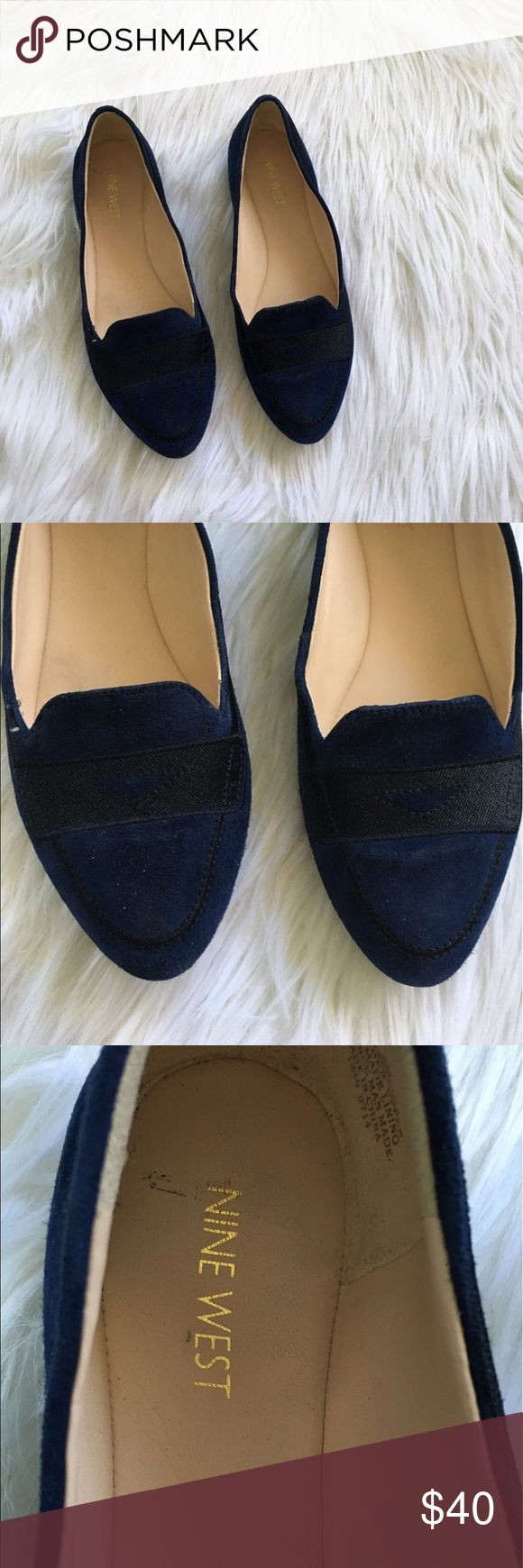 Nine West Blue and Black Suede Loafers Excellent condition with no flaws and tons of life left! NO TRADES PLEASE Nine West Shoes Flats & Loafers