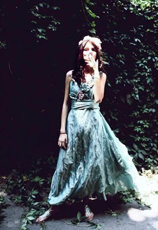 AquaTaffeta Long Dress - Can Be Customized