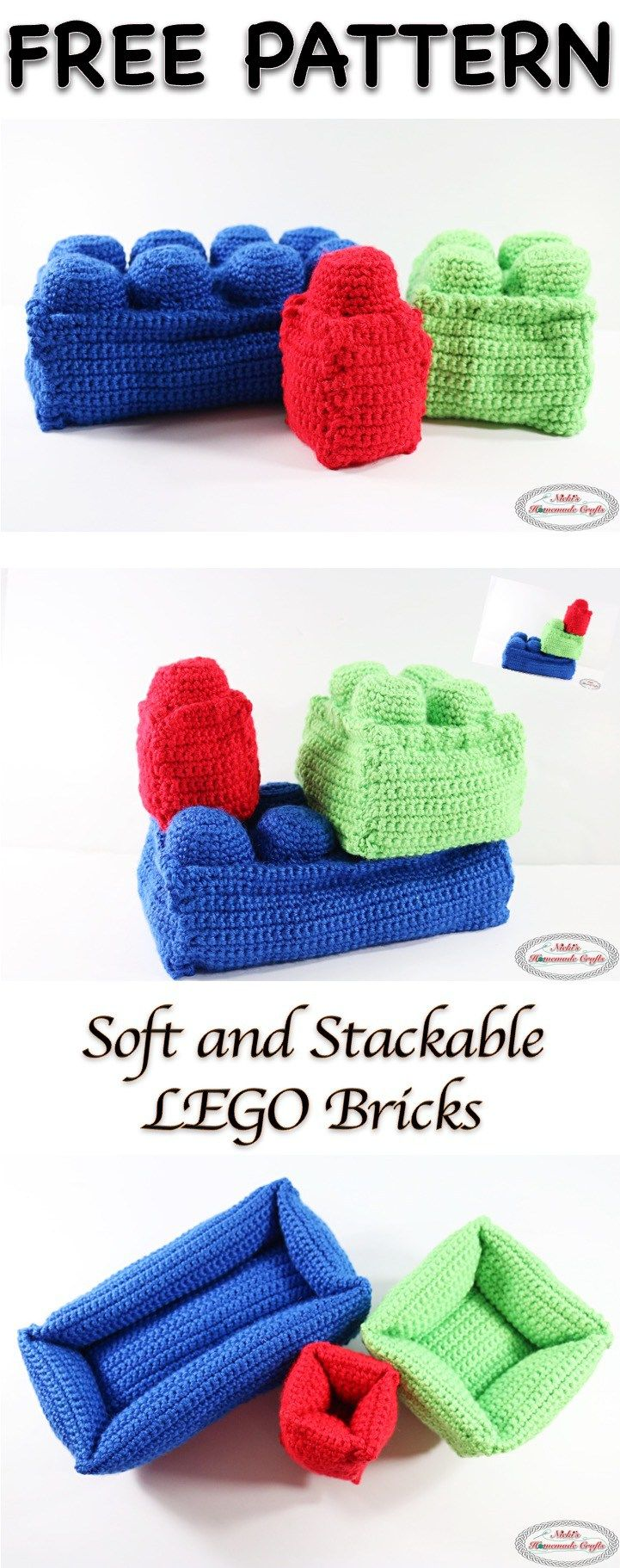 Lego Bricks - Free Crochet Pattern